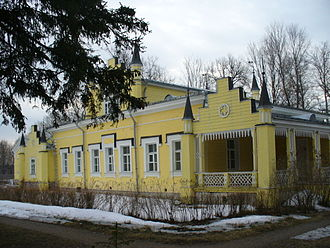 Volosovsky District - The main house of the estate of Izvara.