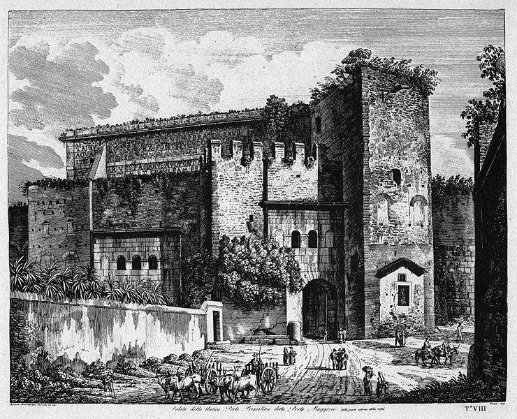 Roma attuale e roma sparita via prenestina vicino dol for Porta maggiore