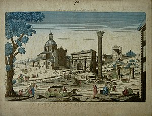 1688 in France - An Optical Print of The Roman Forum by Jacques Chereau