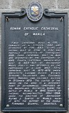 Roman Catholic Cathedral of Manila historical marker (corrected).jpg