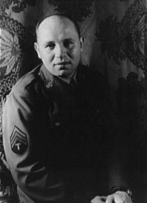 Romare Bearden - Romare Bearden, in his army uniform, a photograph taken by Carl Van Vechten, 1944