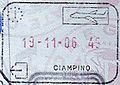 Rome Ciampino Airport passport stamp.jpg