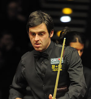 Snooker world rankings 2003/2004 - Image: Ronnie O'Sullivan and Michaela Tabb at German Masters Snooker Final (Der Hexer) 2012 02 05 12