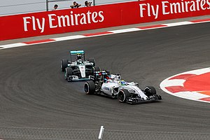 2015 Mexican Grand Prix - Nico Rosberg (seen here behind Felipe Massa) won the race.