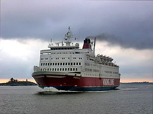 MS Rosella - Rosella arriving in Helsinki in autumn 2007.