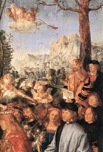 Feast of the Rosary - Detail of the landscape.