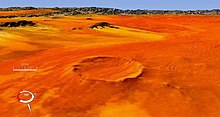 Roter Kamm crater, in the Namib Desert (Landsat image)