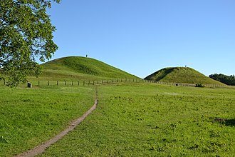 North Germanic peoples - The Royal Mounds at Gamla Uppsala contains hundreds (originally thousands) of tumuli, some of them dating back to the Nordic Bronze Age.