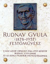 Rudnay Gyula emléktáblája Baján