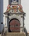 """Rudolstadt Kirchhof Stadtkirche mit Ausstattung Bestandteil Denkmalensemble """"Kernstadt Rudolstadt"""" Südportal.jpg"""