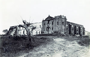 Nuestra Señora de Gracia Church - Image: Ruins of Nuestra Señora de Gracia Church and convent in 1899