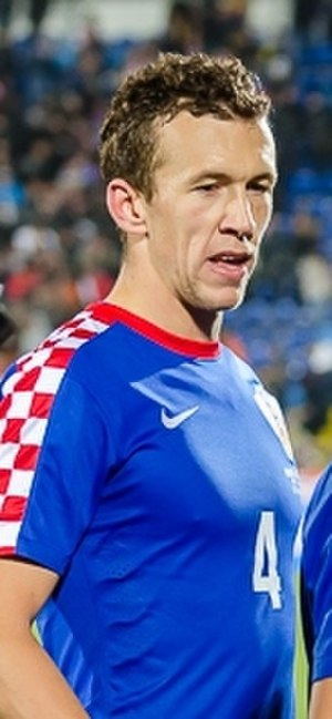 Ivan Perišić - Perišić playing for Croatia on 17 November 2015 in a friendly against Russia