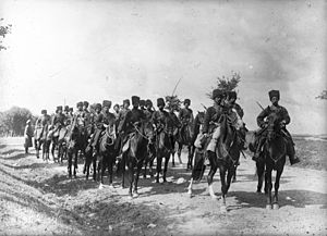 History of the Cossacks - Russian cossacks on the front. 1915