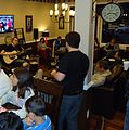 Rutgers singer songwriter Brian Hanson playing in Edison NJ coffee shop.JPG
