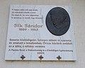 Sándor Sík plaque (2009), 2020 Piliscsaba.jpg