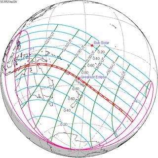 Solar eclipse of September 22, 2052 Future annular solar eclipse