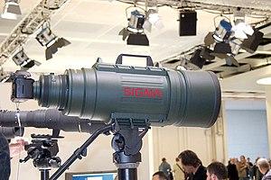 Sigma Corporation - Sigma 200–500mm F2.8 EX DG displayed at the 2008 photokina