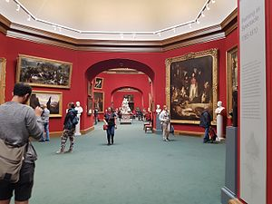 Scottish National Gallery - Interior of the ground floor main galleries of the Scottish National Gallery