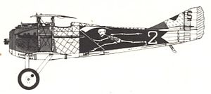 Austen Crehore - Image: SPAD S.XIII Escadrille SPA 94 side view with the Grim Reaper Insignia