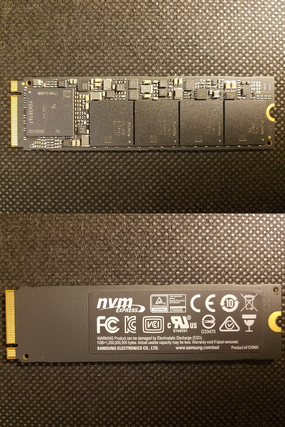 SSD Samsung 960 PRO 512GB - front and back - 2018-05-27
