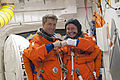 STS-134 White Room Roberto Vittori and Michael Fincke.jpg