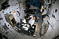 STS-31 crew activity on the middeck of the Earth-orbiting Discovery, OV-103.jpg