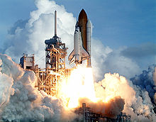 The launch of STS-106