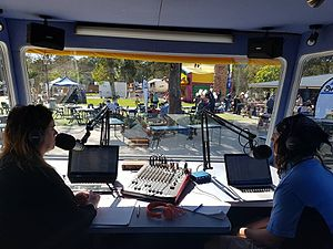 SWR FM - A view from the inside of the SWR Triple 9 OB Van in action at a local community event