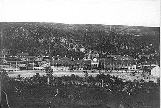 Storlien - Inauguration of Central Line / Meråker Line in 1882, Storlien