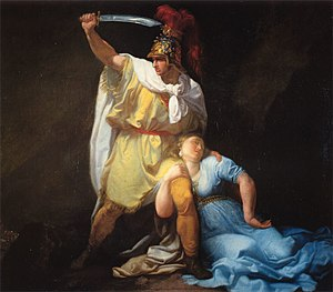 Luigi Sabatelli - Rhadamiste killing Zenobia (1803).