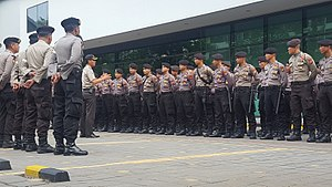 Indonesian National Police - Indonesian police personnel in Jakarta