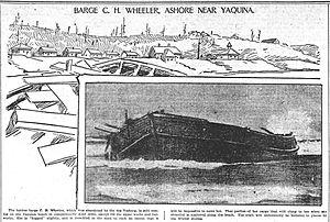 C.H. Wheeler - Image: Sailing barge Wheeler wrecked 1901