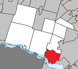 Location within Argenteuil RCM.