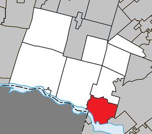 Saint-André-d'Argenteuil, Quebec - Image: Saint André d'Argenteuil Quebec location diagram