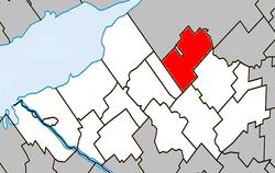Location within Nicolet-Yamaska RCM.