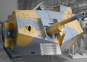 Saint-Chamond (tank) - The Char Saint-Chamond on display at the Musée des Blindés in Saumur, the last surviving example.