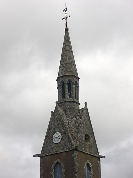 Saint Guyonvarch church of Saint-Guyomard (Morbihan, France) : tower