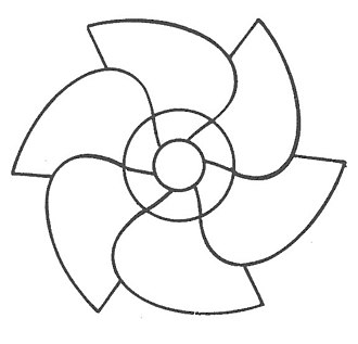 Sakia - Schematics of an ideal modern sakia in a spiral design (Fathi model; drawing by FAO)