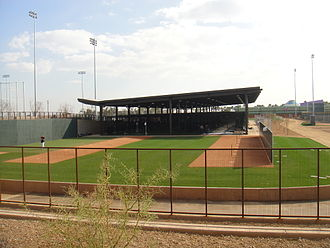 Salt River Fields at Talking Stick - Batting cages and bullpens for the Colorado Rockies.
