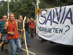 English: Salvia divinorum parade in Berlin 2007