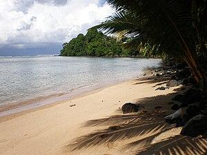 Tuamasaga - Beach on the north coast of Tuamasaga district