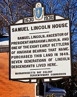 Samuel Lincoln Ancestor of Abraham Lincoln