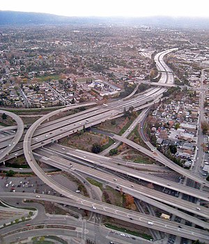 San Jose, CA freeway interchange 280 and 87