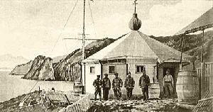 Isla de los Estados - Lighthouse San Juan del Salvamento in the east (1898)