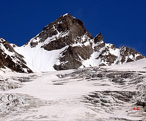 Torre del Gran San Pietro - Torre del Gran San Pietro over the Coupé de Money glacier