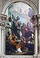San Salvador Interno - Girolamo Brusaferro - L'apostolo Giacomo tra i santi Lorenzo, Maria Maddalena et Francesco di Sales.jpg
