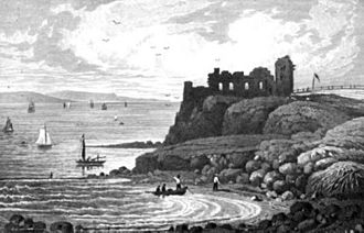 Sandsfoot Castle - The castle depicted in 1825