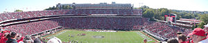 Sanford Stadium - Image: Sanford North Stands Panorama