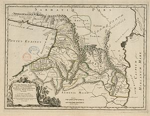 Abasgoi - Abasgi to the of Absilae in a Colchis, Iberia, Albania etc. map of Guillaume Sanson, 1667