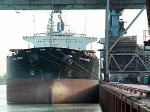 Santa Markela - IMO 8811792 - Callsign A8IB7 front, Port of Rotterdam, Holland 19-Nov-2005.jpg
